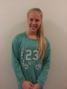 Rode, Mathilde 14 år Posisjon: Keeper Klubb: SK Haugar Lag: J14-1 og J19