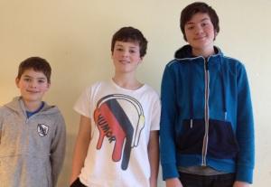 Fra venstre: Daniel 8F, Øystein 8F og Belmin 8D
